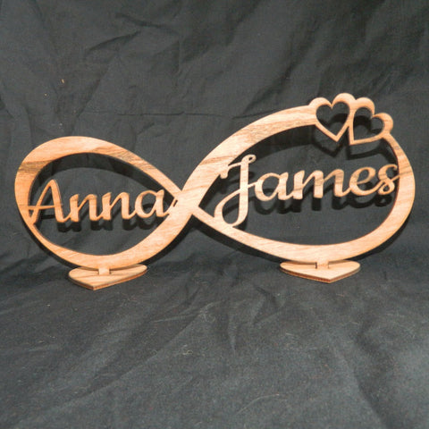 Infinity Sign Personalized Decoration Stand