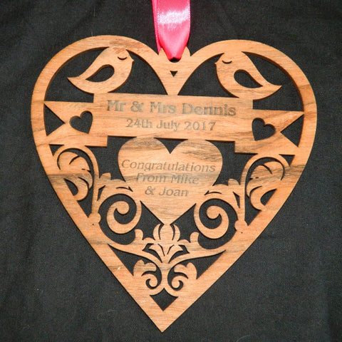 Hanging Heart Wedding Anniversary Gift