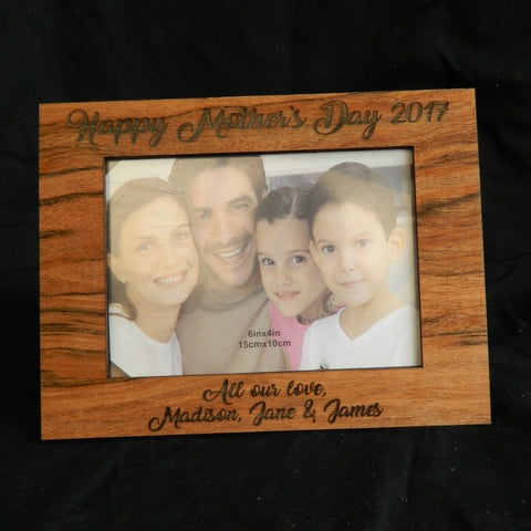 Personalized Red Oak Veneer Photo Frame