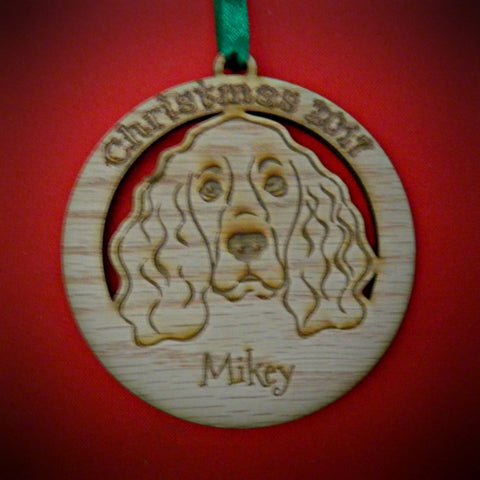 Christmas Pet Bauble Decorations Personalized