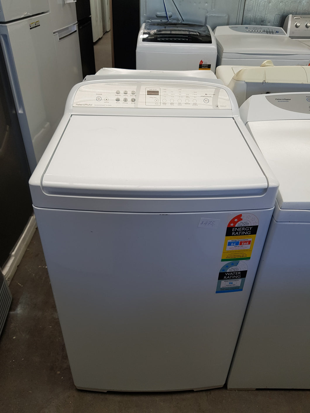Fisher & Paykel WashSmart 8.5kg Top Loader - CURRENT MODEL - DMS Appliances