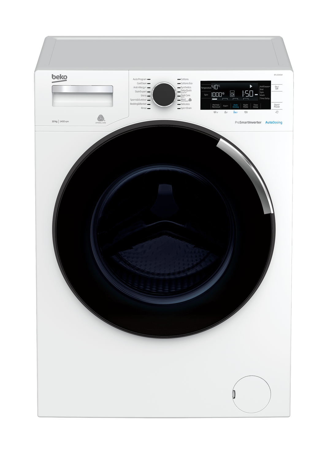[Brand New] Beko BFL103ADW 10kg Front Loader with AutoDosing - 5 Years Warranty