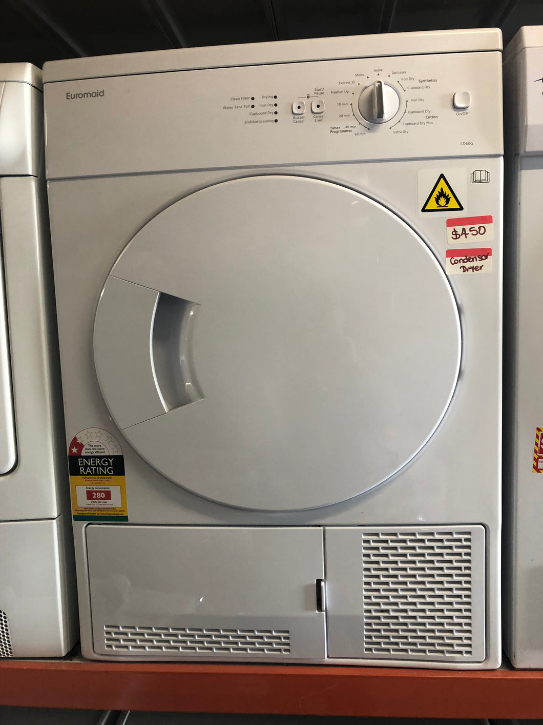 Euromaid 6kg Condenser Dryer - DMS Appliances