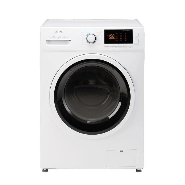 EURO EFWD735W – 7KG / 3.5KG Washer / Dryer Combo FRONT LOADER - BRAND NEW 3 YEAR WARRANTY - DMS Appliances