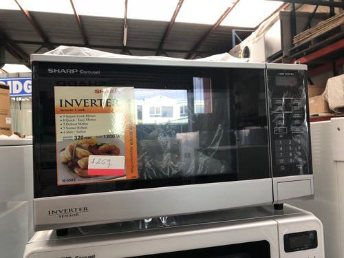 Sharp Microwave 1200W SLIVER - FACTORY SECOND