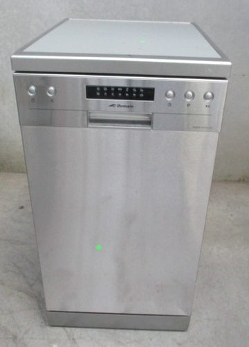 Domain 45cm Slimline Stainless Steel Electronic Freestanding Dishwasher - Factory Second