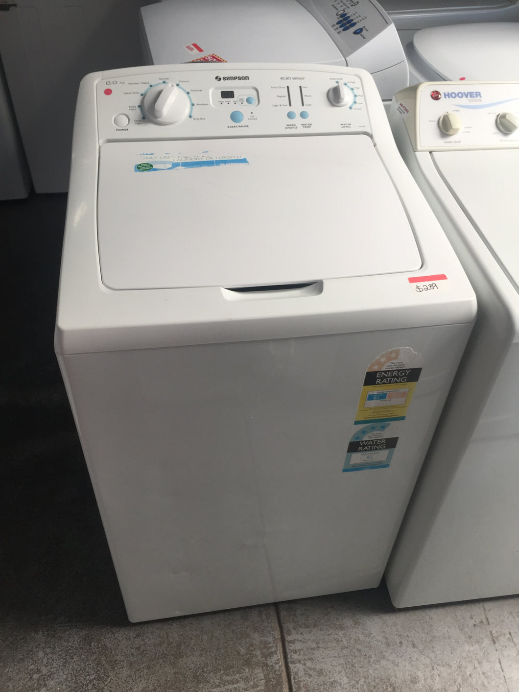 Simpson 6kg Top Loader- Auto Water Level - DMS Appliances