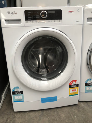 Whirlpool 7.5kg Front Loader -  MADE IN ITALY  RRP: $749 NEW FACTORY SECOND