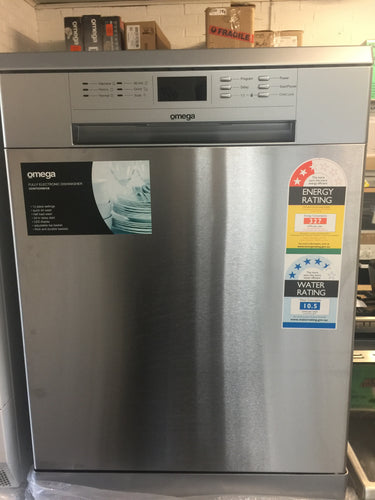 Omega 60cm Freestanding Dishwasher- FACTORY SECONDS DAMAGED PACKAGING