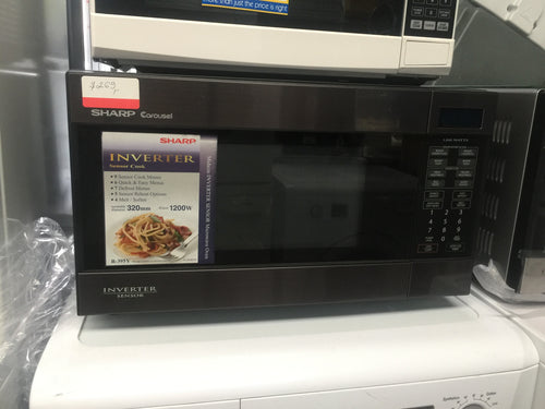 Sharp  Stainless Steel Inverter Microwave 1200W - FACTORY SECOND