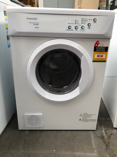 Euromaid 6kg Vented Dryer- New Factory Seconds - DMS Appliances