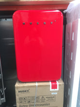 Husky RED 110L Bar Fridge NEW CARTON DAMAGE - DMS Appliances