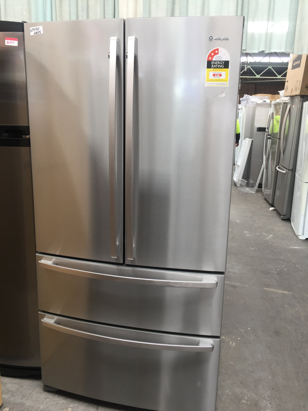 Westinghouse 631l French Door Fridge Factory Second Rrp 2564