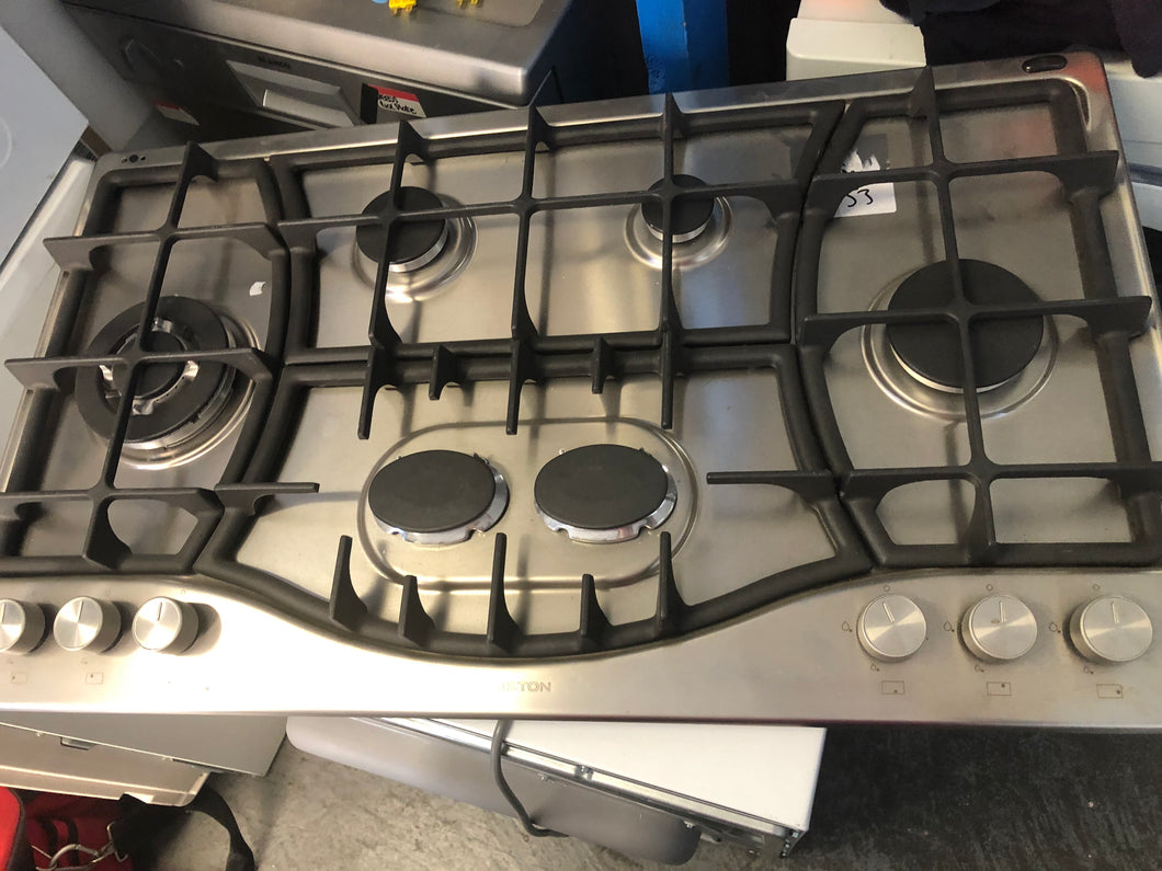 Ariston 900mm 6 Burner Direct Flame Gas Cooktop- Factory Seconds