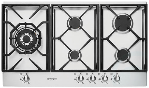 Westinghouse 90cm Stainless Steel Gas Cooktop - FACTORY SECONDS