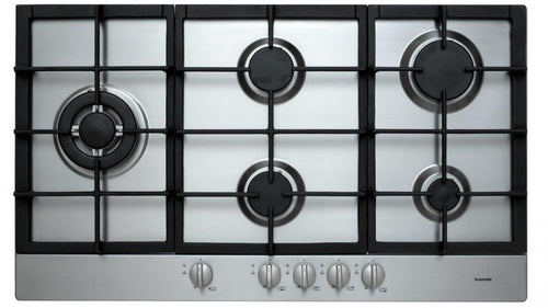 Euromaid 900mm Gas Cooktop  Stainless Steel- FACTORY SECONDS - DMS Appliances