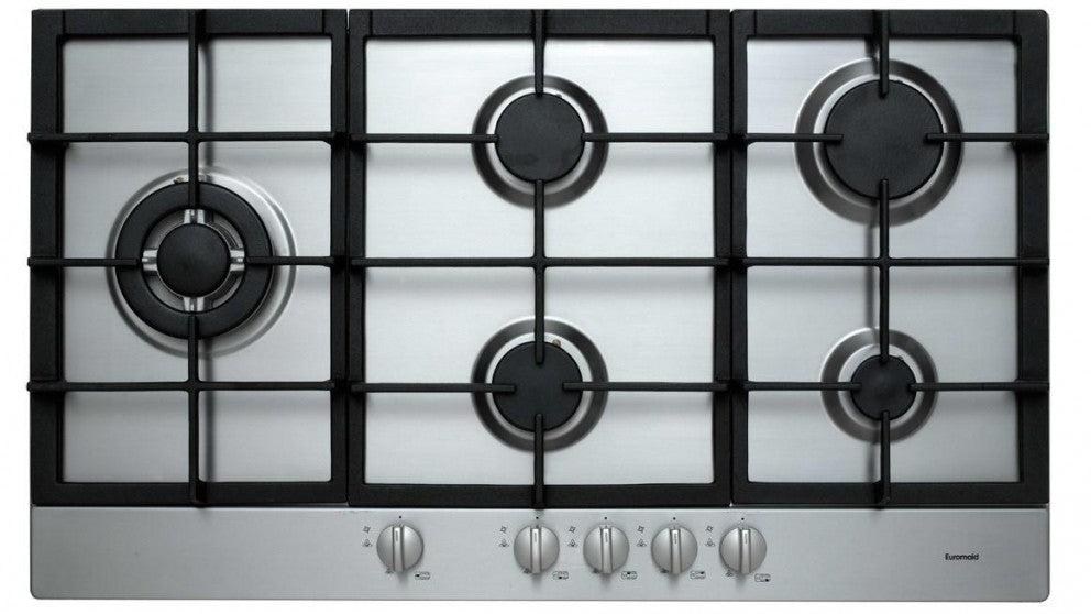 Euromaid 900mm Gas Cooktop  Stainless Steel- NEW - DMS Appliances
