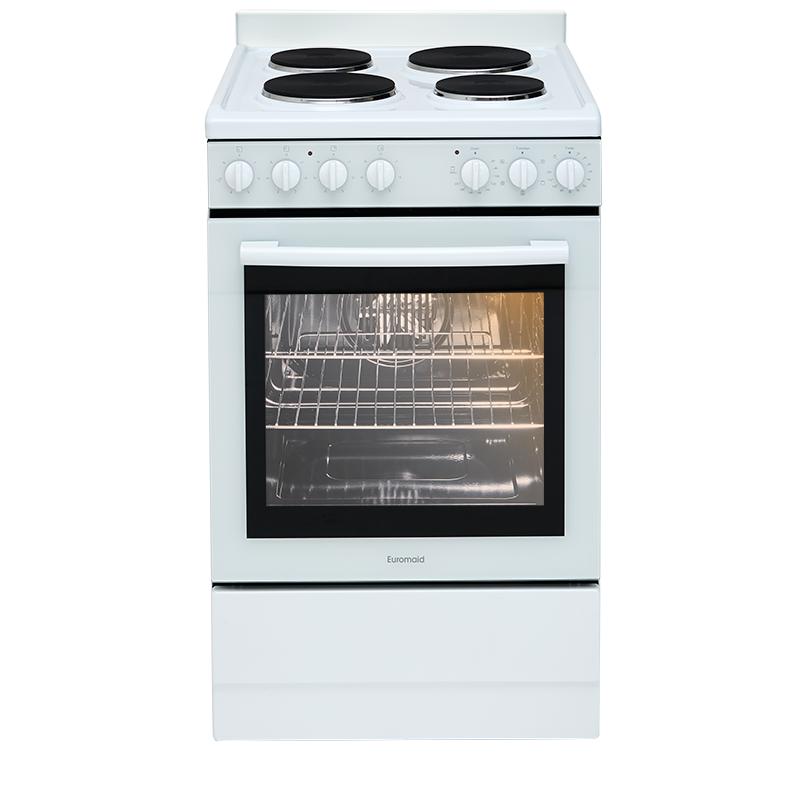 Euromaid Electric Single Cavity Oven + Solid Cooktop | EFF54W - NEW - DMS Appliances