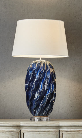 Longchamp Table Lamp Base Blue