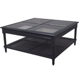 Polo Square Coffee Table Black or White