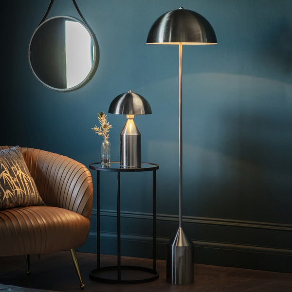 Albany Floor Lamp Brushed Nickel