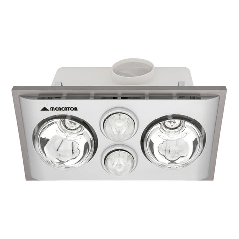 Lava Duo Bathroom Heater with Exhaust & Light White