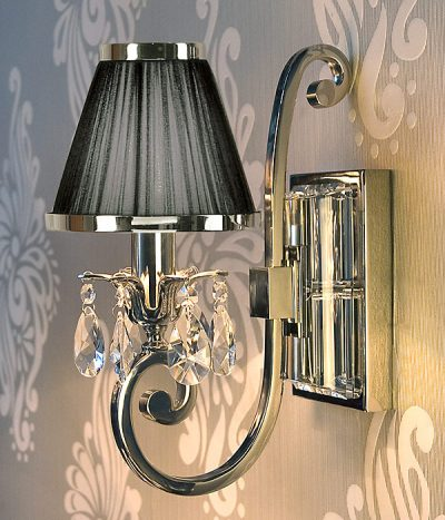 Luxuria 1 light wall lamp black