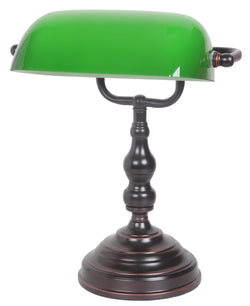 BANKER TABLE LAMP BRZ