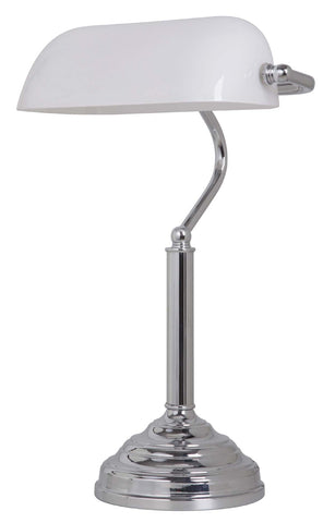 STUDY TABLE LAMP CHROME