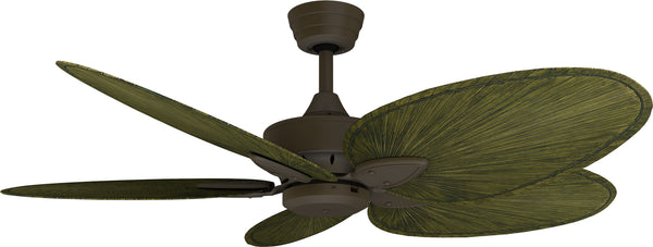 "52"" Tropical Windpointe in Oil-rubbed Bronze with Green blades"