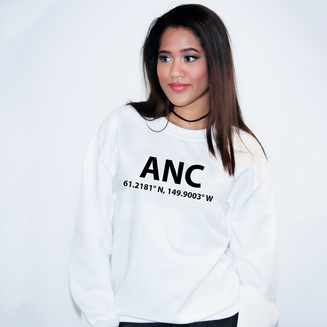 ANC Anchorage Alaska Sweater - Unisex