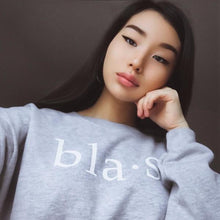 Blasé Crop Sweater Grey Ladies Marquee Noir