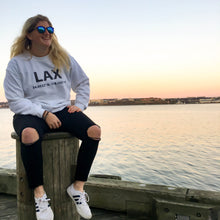 LAX Los Angeles Sweater White Unisex Marquee Noir MN