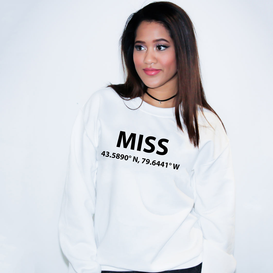 MISS Mississauga Ontario Sweater - Unisex