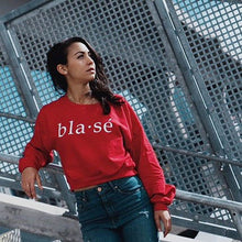 Blasé Crop Sweater Red Ladies Marquee Noir MN
