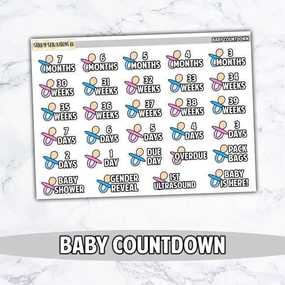 Baby Countdown Stickers