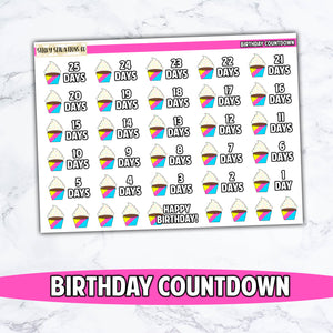 Birthday Countdown Stickers