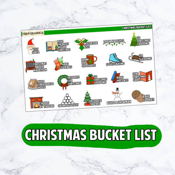 Christmas Bucket List Stickers