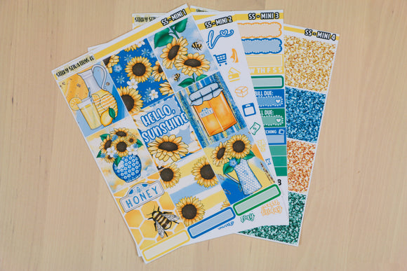 Sunshine Mini Sticker Kit | Planner Sticker Kit for Vertical Planners
