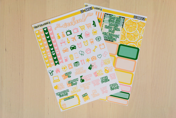 Lemonade Stand Base Kit | Planner Sticker Kit for Vertical Planners