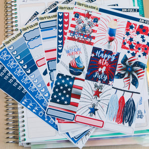 America Full Sticker Kit | Planner Sticker Kit for Vertical Planners