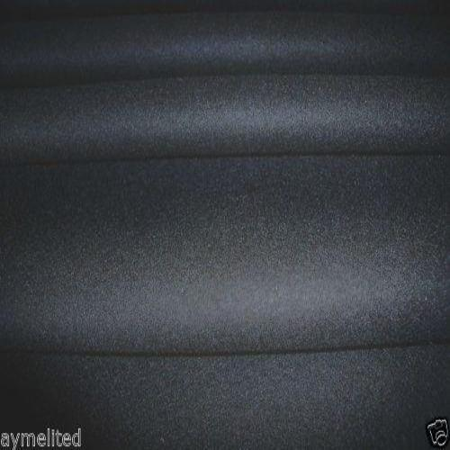 ITALIAN HEAVY PURE WOOL MELTON BLACK FABRIC 150cm