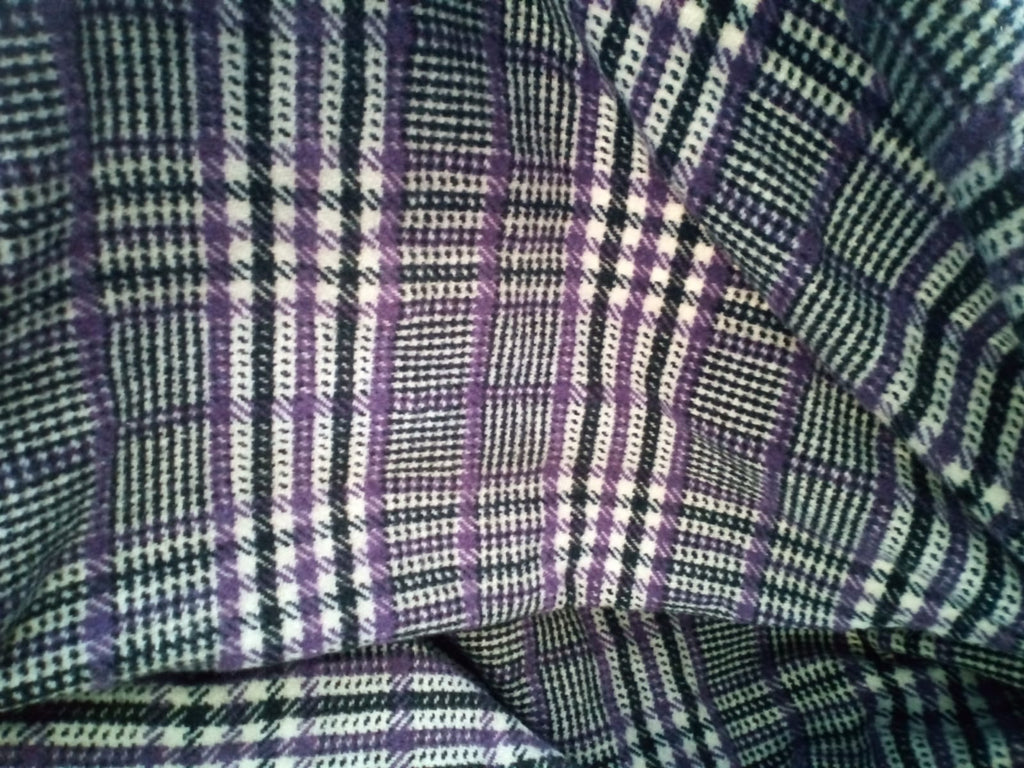 Prince of Wales 100% Pure wool fine fabric for suits