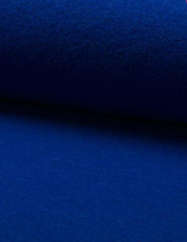 Italian velour wool royal blue fabric 150 cm wide