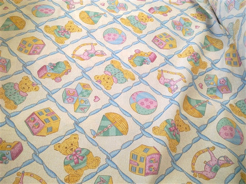 100% COTTON  TEDDY BEAR FABRIC 160cm wide