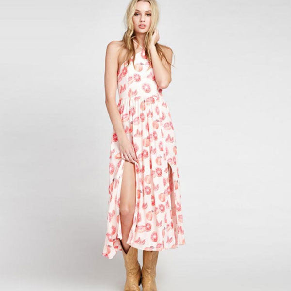 Fruity Summer Mid Calf Dress