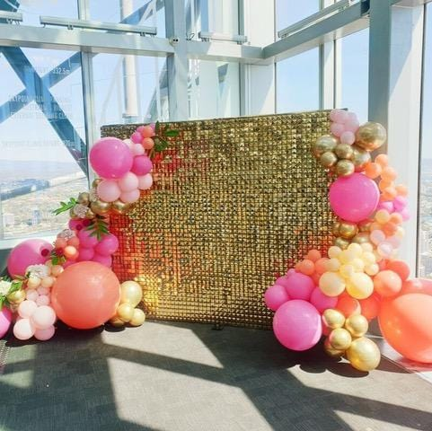 Backdrop 220cm Gold Shimmer Wall Melbourne Hire