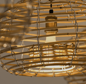Chandelier Cane Lobster Pot 80cm Pendant Light