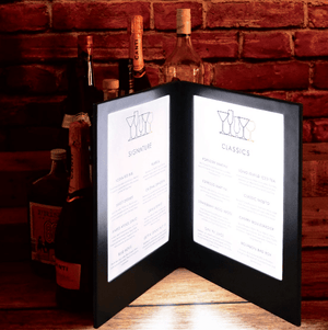 Illuminated Custom A4 Menu Set of 20