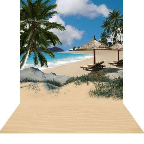 Bar 223cm Bamboo Beach Hut Destination Theme Melbourne Hire